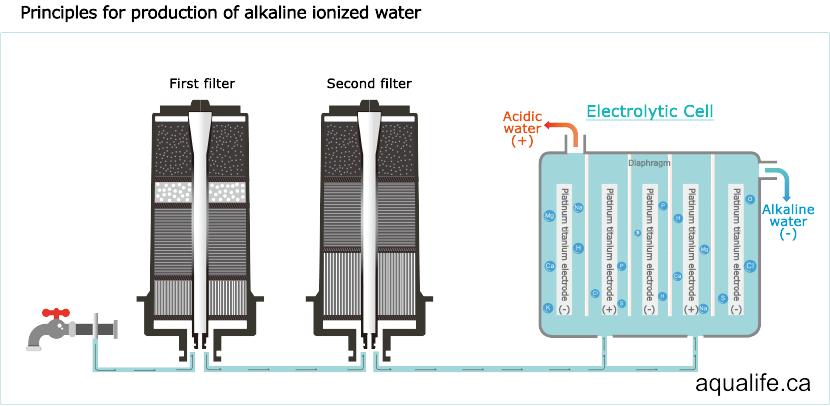 water ionizer, How does a water ionizer work ?, Aqualife.ca, Aqualife.ca